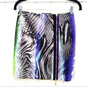 NWOT Elie Tahari Multi-Colour Animal Mini Skirt 0